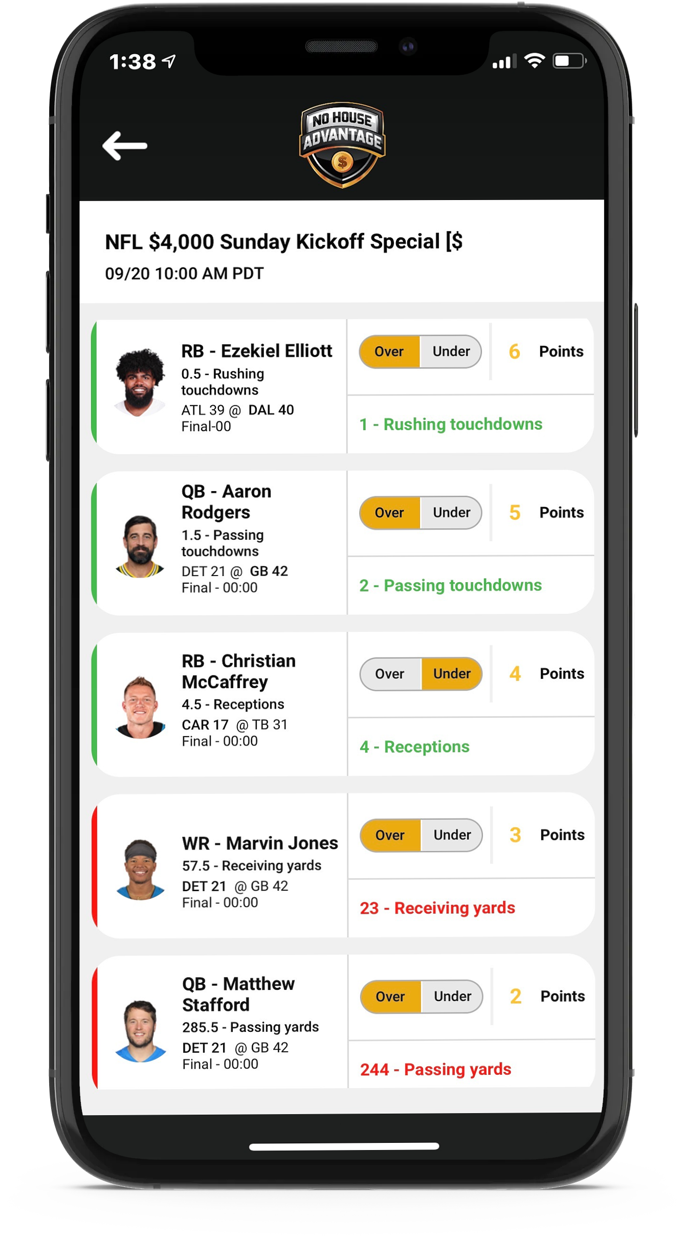 We give everyday sports fans the chance to win cash prizes by playing fantasy sports!